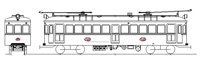 画像1: イコマ商会ペーパーキット 叡電デナ21・121