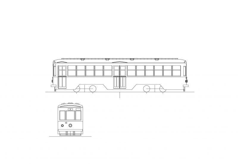 画像1: イコマ商会ペーパーキット 大阪市電1800