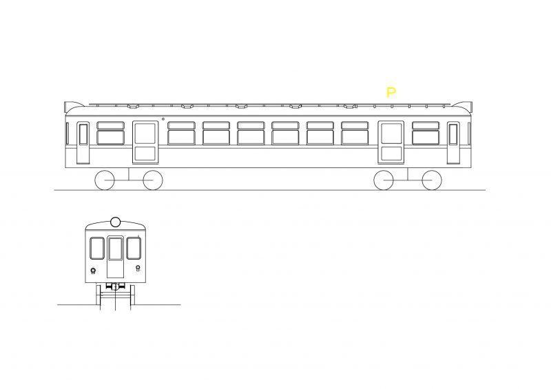 画像1: イコマ商会ペーパーキット 奈良電鉄デハボ1200(注文生産、『カートに入れる』ボタンよりご発注ください)