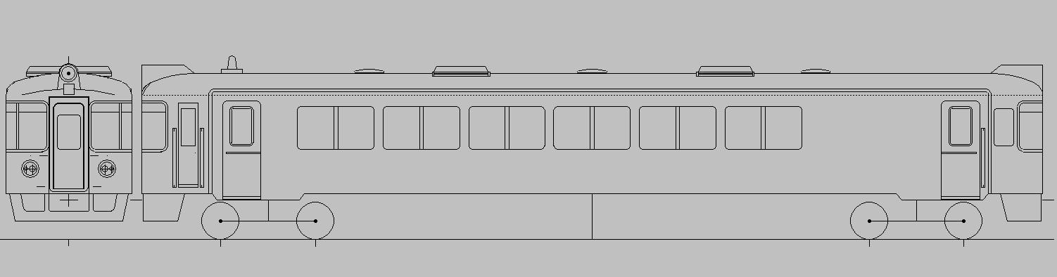画像1: イコマ商会ペーパーキット 北近畿タンゴ鉄道KTR700(注文生産、『カートに入れる』ボタンよりご発注ください)