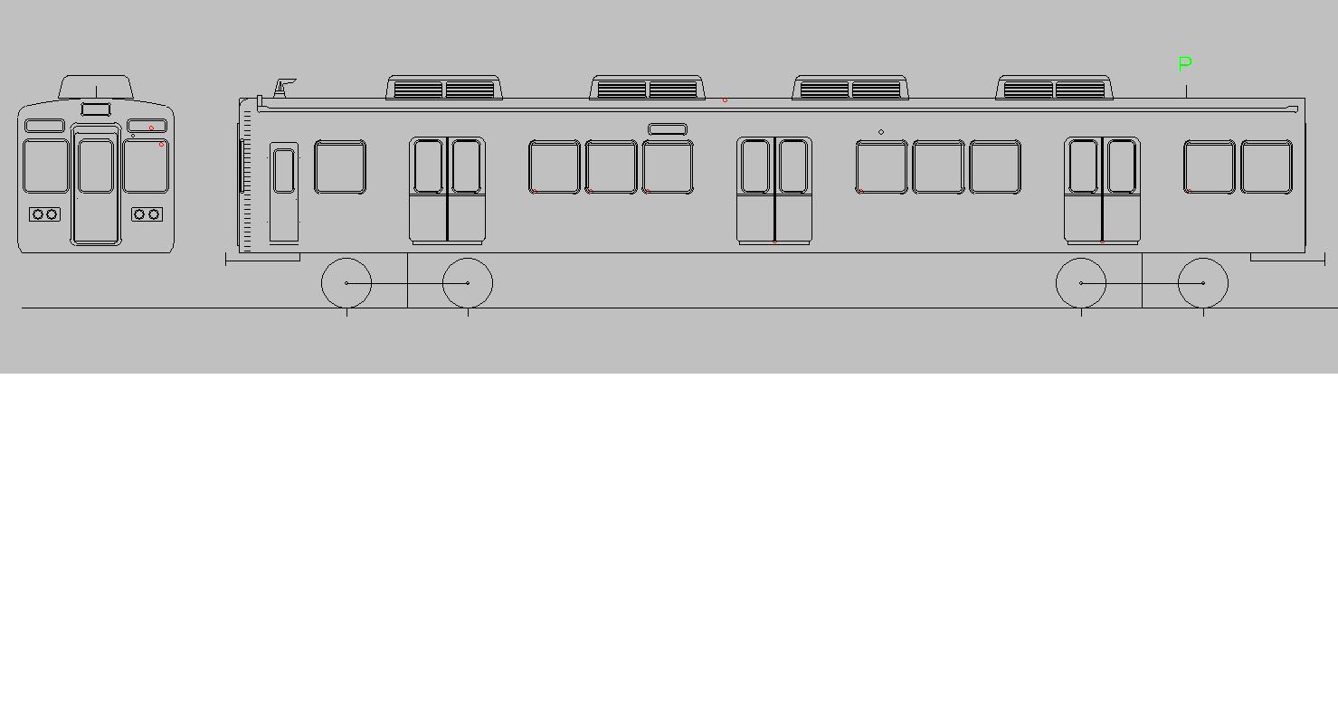 画像1: イコマ商会ペーパーキット 阪急5100 先頭2両組