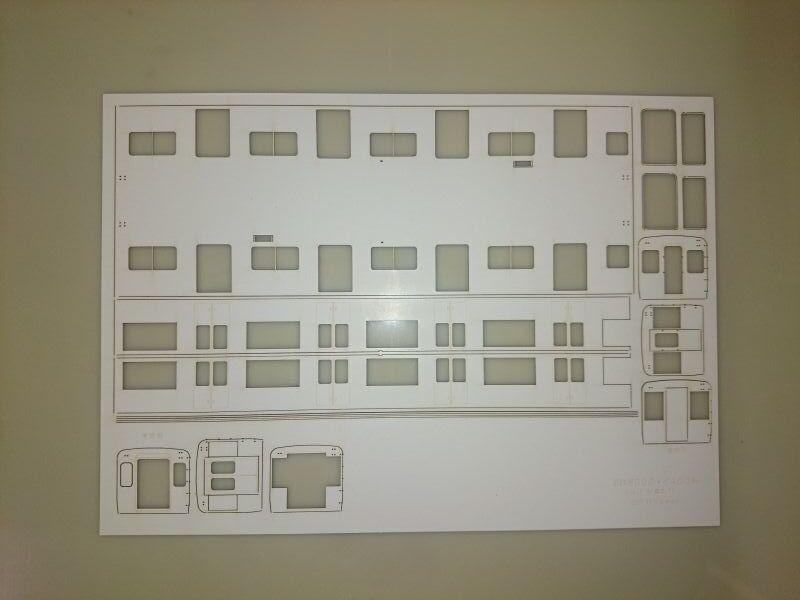 画像1: イコマ商会型紙 近鉄8000系8400系中間車(注文生産、『カートに入れる』ボタンよりご発注ください)