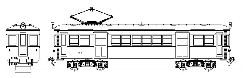 画像1: イコマ商会ペーパーキット 南海モハ1251 二段ニス窓、両運(注文生産、『カートに入れる』ボタンよりご発注ください)