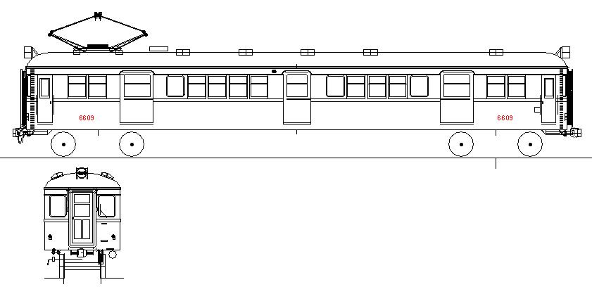 画像1: イコマ商会ペーパーキット 近鉄モ6601 両運・更新