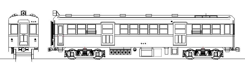 画像1: イコマ商会ペーパーキット 近鉄モ600 張上屋根・片運