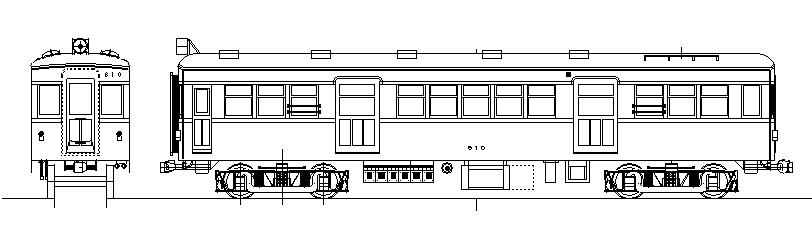 画像1: イコマ商会ペーパーキット 近鉄モ600 片運・普通屋根