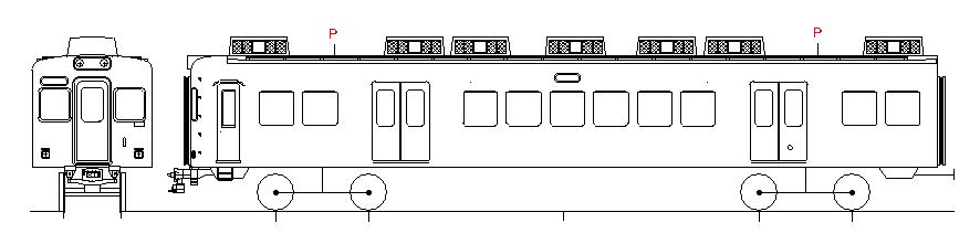 画像1: イコマ商会ペーパーキット 南海モハ22000系冷房化2両組(注文生産、『カートに入れる』ボタンよりご発注ください)