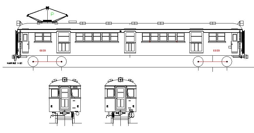 画像1: イコマ商会ペーパーキット 近鉄モ6601 原型