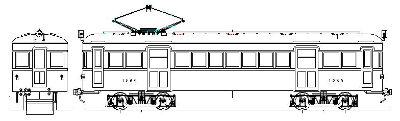 画像1: イコマ商会ペーパーキット 南海モハ1251 下降窓、2色塗り、両運(注文生産、『カートに入れる』ボタンよりご発注ください)