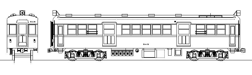 画像1: イコマ商会ペーパーキット 近鉄モ600 張上屋根・両運